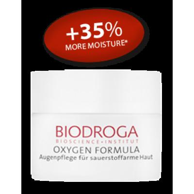 Омолоджуючий кисневий крем для шкіри навколо очей Biodroga Eye Care for sallow skin