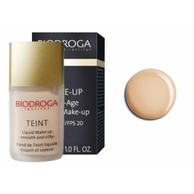 Антивіковий макіяж-тон1 шовкова засмага Biodroga Anti-Age Liquid Make Up SPF 20