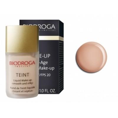 Антивіковий макіяж-тон2 золотиста засмага Biodroga Anti-Age Liquid Make Up SPF 20