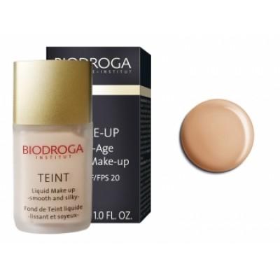 Антивіковий макіяж-тон3 бронзова засмага Biodroga Anti-Age Liquid Make Up SPF 20