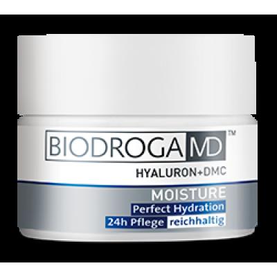 Ідеально зволожуючий насичений крем 24-годинної дії Biodroga MD Perfect Hydration 24h Care -extra rich-