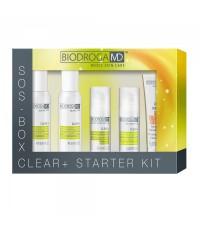 Набір косметики по догляду за проблемною шкірою Srarter Kit Biodroga MD Clear+ Starter Kit