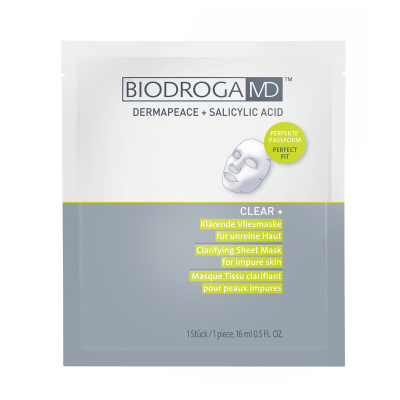 Лікувальна маска для проблемної шкіри Biodroga MD Clarifying Sheet Mask for impure skin