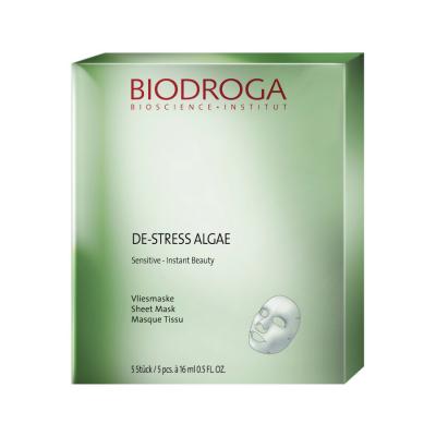 Anti-Age маска моментальної дії для чутливої шкіри Biodroga Sensitive De-Stress Algae Essence Sheet mask